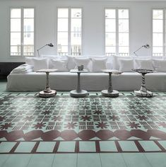 Bisazza Contemporary cement tiles - Cersaie 2014