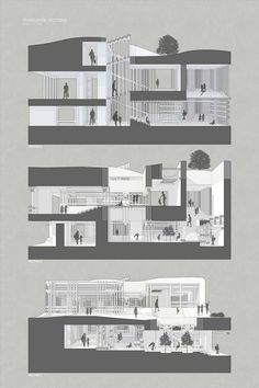 feeel, design, Connecting designers to the World Section Drawing Architecture, Architecture Collage, Architecture Graphics, Japanese Architecture, Concept Architecture, Architecture Design, Planer Layout, Architecture Presentation Board, Minecraft Architecture
