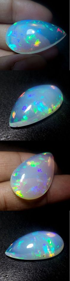 Fire Opals 69184: 29X17 Mm Top Natural Ethiopian Rolling Fire Opal 16 Cts Pear Shape Cabochon Nice -> BUY IT NOW ONLY: $234.99 on eBay!