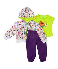 Look what I found on #zulily! Acai Fleece Zip Hoodie Set - Toddler by Converse #zulilyfinds