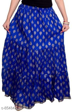 Ethnic Bottomwear - Skirts Stylish Cotton Women's Long Skirt Fabric: Cotton Waist Size: Up To 26 in To 40 in ( Free Size) Length: Up To 39 To 40 in Type: Stitched Description: It Has 1 Piece Of Women's Long Skirt Work: Printed  Country of Origin: India Sizes Available: Free Size, 26, 28, 30, 32, 34, 36, 38, 40   Catalog Rating: ★4 (1805)  Catalog Name: Ladies Cotton Printed Long Skirts Vol 15 CatalogID_99049 C74-SC1013 Code: 913-854845-657