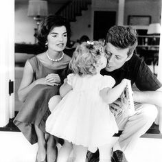 In this 1959 file photo, Caroline Kennedy kisses her father, then Senator John F. Kennedy, as her mother Jacqueline looks on, in their residence in Washington DC. Image from Jacqueline Kennedy's Audio Tapes: 'John John' Says 'He's Gone to Heaven' Caroline Kennedy, Jacqueline Kennedy Onassis, Jackie Kennedy, Les Kennedy, Carolyn Bessette Kennedy, Sweet Caroline, Kennedy Town, Jackie O's, Jaqueline Kennedy