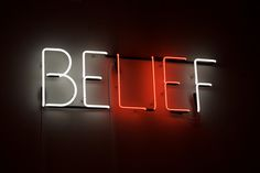 Belief - Neon sculpture by Joe Rees neon