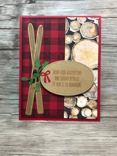 Stamped Christmas Cards, Stampin Up Christmas, Christmas In July, Handmade Christmas, Winter Cards, Masculine Cards, Stamping Up, Scrapbook Cards, Stampin Up Cards