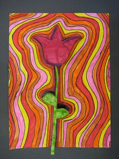 Art Projects from MN Art Gal: echo flower...