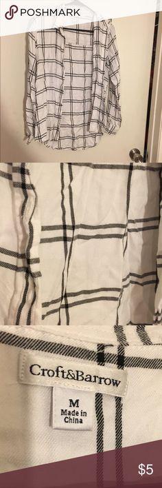 Women's plaid shirt Women's plaid shirt croft & barrow Tops