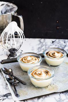 Marshmallow Honey Panna Cotta // The Moonblush Baker