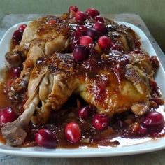 "Cranberry BBQ Chicken | ""The smell alone while this was in the oven should be an air freshener."""