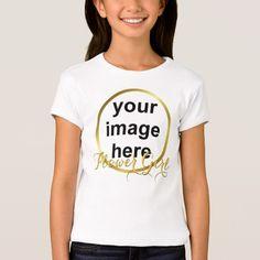 Modern Elegant Gold Foil FLOWER GIRL Photo T-Shirt