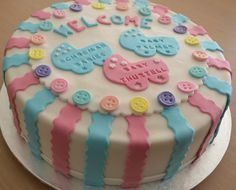 Joint baby shower cake