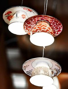 tht designs tea cups and plate   ... enlighting cups of tea will create a funny and artistic décor