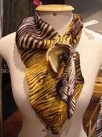 SHIBORI: Another fine example by shibori + textiles