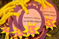 Princess Rapunzel Crown Themed FAVOR TAGS by simplyhomesweethome, $10.00: