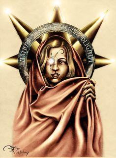 ZAPSTAR Witch  (Charcoal-Fineliner&Photoshop)