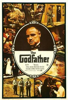 """""""The Godfather"""" cartel antiguo."""