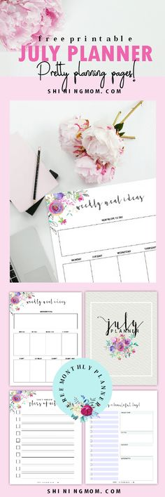 Plan a bountiful July! Get this free July planner printable now!