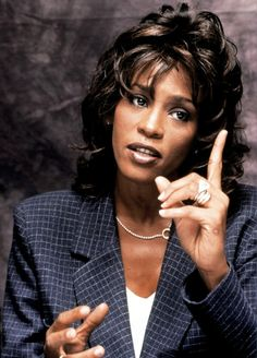 """only Whitney could do the """"finger"""". Beverly Hills, Beautiful Voice, Black Is Beautiful, Whitney Houston Pictures, New Jack Swing, Vintage Black Glamour, Mariah Carey, The Voice, Queen"""