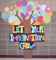 Let your Imagination Grow! display for bulletin board or door.