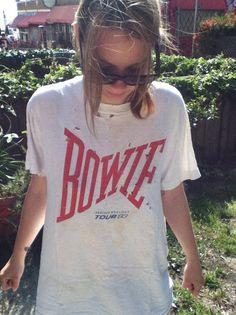 DAVID BOWIE original vintage tour t shirt 1983 ♥