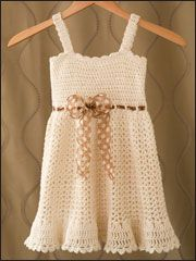 Crochet a Sundress for a little girl toddler sizes...