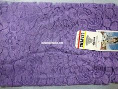 Model: Flower/ Flor  Material: Leavers Color: Lilac/Lila Size: 120 x 60 cm  Made in: Spain/España  TOP quality Mantilla Leavers veil. It will frame your face, head and shoulders beautifully with its soft and light texture.  Velo de alta calidad Leavers de encaje Espanol. Este velo se conforma a su cuerpo y es muy suave y con efecto de poco peso.