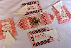 American Girl TABLE RUNNER Placemats and Napkins by DollPatchworks, $28.00