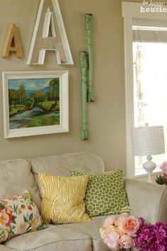 Summer House Tour at The Happy Housie Living Room 10