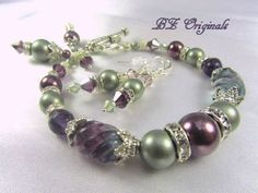 purple and teal bracelet and earings for bm gifts- would love to DIY