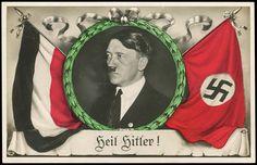 "Nazi propaganda postcard, ""Heil Hitler"""