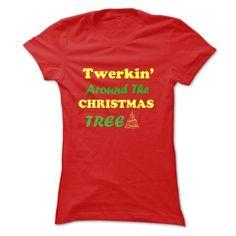 Twerking Around Christmas Tree #sunfrogshirt #merrychristmas #christmas