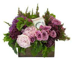 arrangement in lavender tones from Roger's Gardens
