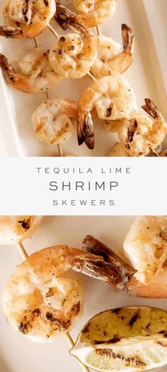 If you love the zesty fresh citrus flavor of a good margarita, you'll love this incredible tequila lime shrimp recipe! It's the essence of your favorite summertime cocktail, in the form of incredible shrimp skewers – perfect for throwing on the grill. Fun Easy Recipes, Summer Recipes, My Recipes, Easy Meals, Healthy Recipes, Dinner Recipes, Dinner Ideas, Healthy Snacks, Vegetarian Recipes