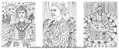 #ColoringPages from the coloring book 'The Men of Quirly'. Available on Amazon - https://www.amazon.com/dp/1523437006