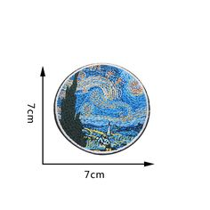 2pcs/lot Van Gogh Painting The Starry Night Embroidery Iron On Patches For Clothes DIY Accessory Applique Armband Stickers-in Patches from Home & Garden on Aliexpress.com | Alibaba Group