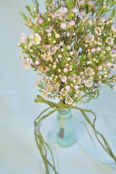 DIY waxflower bouquet and corsage