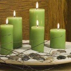 Gabriel, Ganesha, Feng Shui, Altar, Pillar Candles, Creative, Cottages, Therapy, Malachite