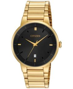 Citizen Men's Gold-Tone Stainless Steel Bracelet Watch 40mm BI5012-53E