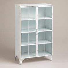 One of my favorite discoveries at WorldMarket.com: White Giselle Double Cabinet