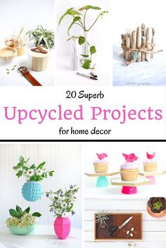 20 Awesome Upcycled Home Decor Projects