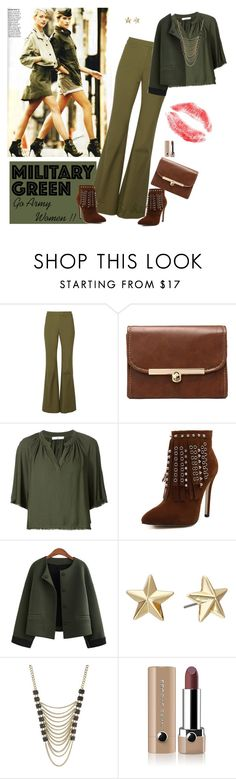 """""""Attention ! Go Army Green"""" by selene-cinzia ❤ liked on Polyvore featuring 10 Crosby Derek Lam, 321, WithChic, Rebecca Minkoff, Lane Bryant, Marc Jacobs and Gogreen"""