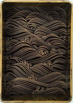 japanese-style waves - could these be worked into a floral/decoupage motif?