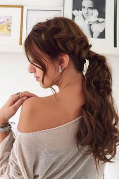 Dutch Braid Ponytail by the lovely @katrinalipska who is wearing her Chestnut Brown Luxy Hair Extensions to add volume and length. #LuxyHairExtensions