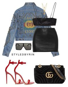 featuring Gucci, Yves Saint Laurent, Gianvito Rossi and Ben-Amun I Love Fashion, Passion For Fashion, Fashion Looks, Stylish Outfits, Fashion Outfits, Womens Fashion, Outfit Chic, Look Girl, Mode Chic