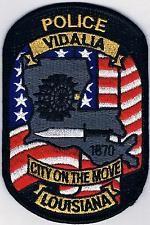 Vidalia Police Patch Louisiana Nebraska, Oklahoma, Wisconsin, Michigan, Old Police Cars, Military Police, Police Patches, Flag Patches, Law Enforcement Badges