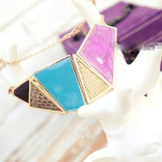 Mixed Geo Necklace- $20.00 Shop now on www.instylook.com