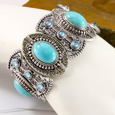 75.4 Grams Turquoise Bangle Bracelet SM7173. Starting at $9