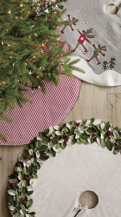 Mistletoe Tree Skirt | Crate and Barrel