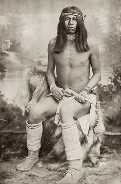 Fel-Ay-Tay, Yuma Scout for the San Carlos Apache. Photo by Baker & Johnston. 1881.