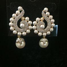 """CZ Earrings 1.5"""""""