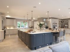Creating Your Dream Kitchen Fall back in love with your kitchen with the Laura Ashley Kitchen Collection Open Plan Kitchen Dining Living, Open Plan Kitchen Diner, Living Room Kitchen, Home Decor Kitchen, New Kitchen, Home Kitchens, Kitchen Ideas, Two Tone Kitchen, Kitchen Images